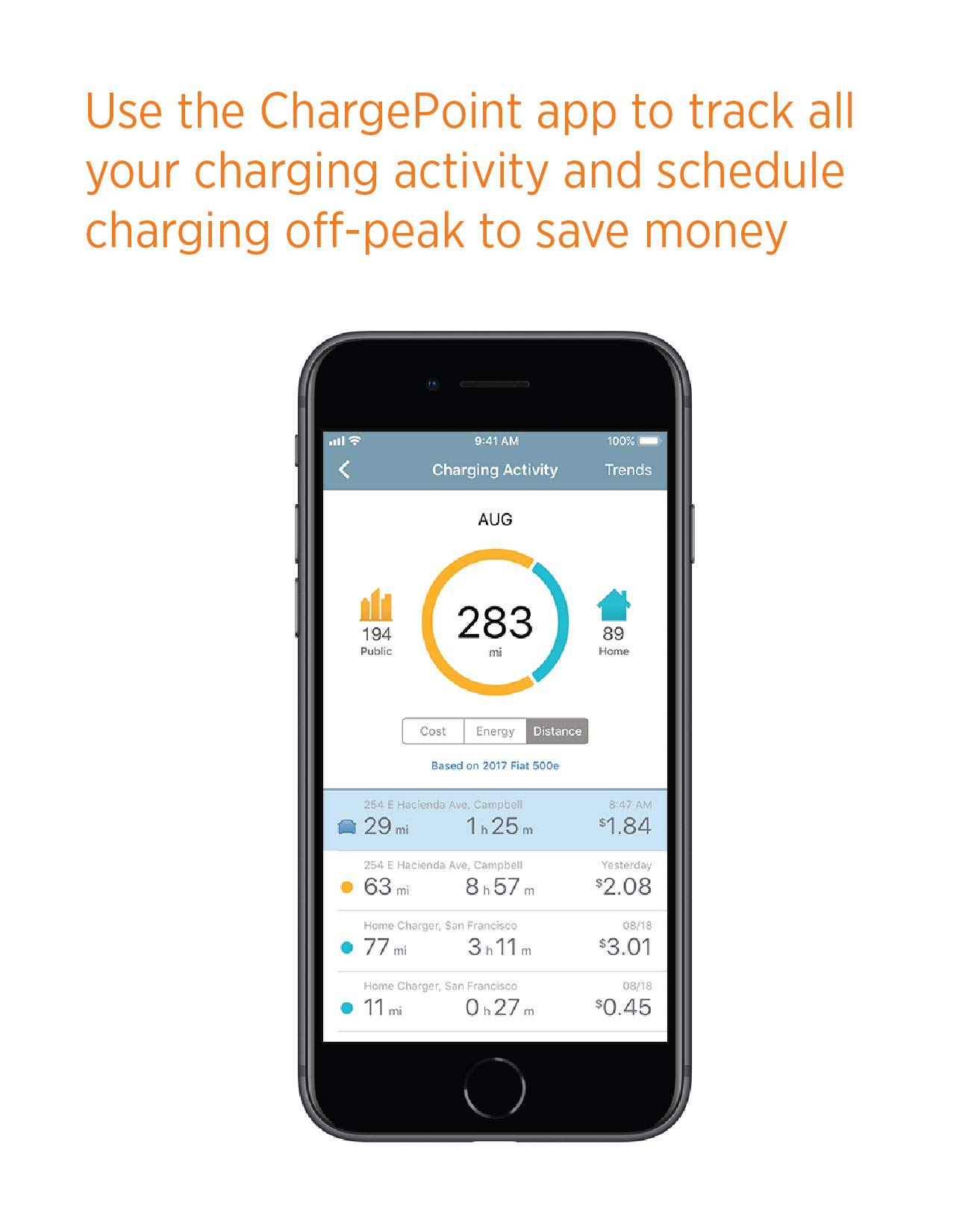 ChargePoint Home WiFi Enabled Electric Vehicle (EV) Charger - Level 2 240V EVSE, 32A Electric Car Charger for All EVs, UL Listed, ENERGY STAR Certified, Hardwired (no outlet needed), 18 Ft Cable by ChargePoint (Image #5)