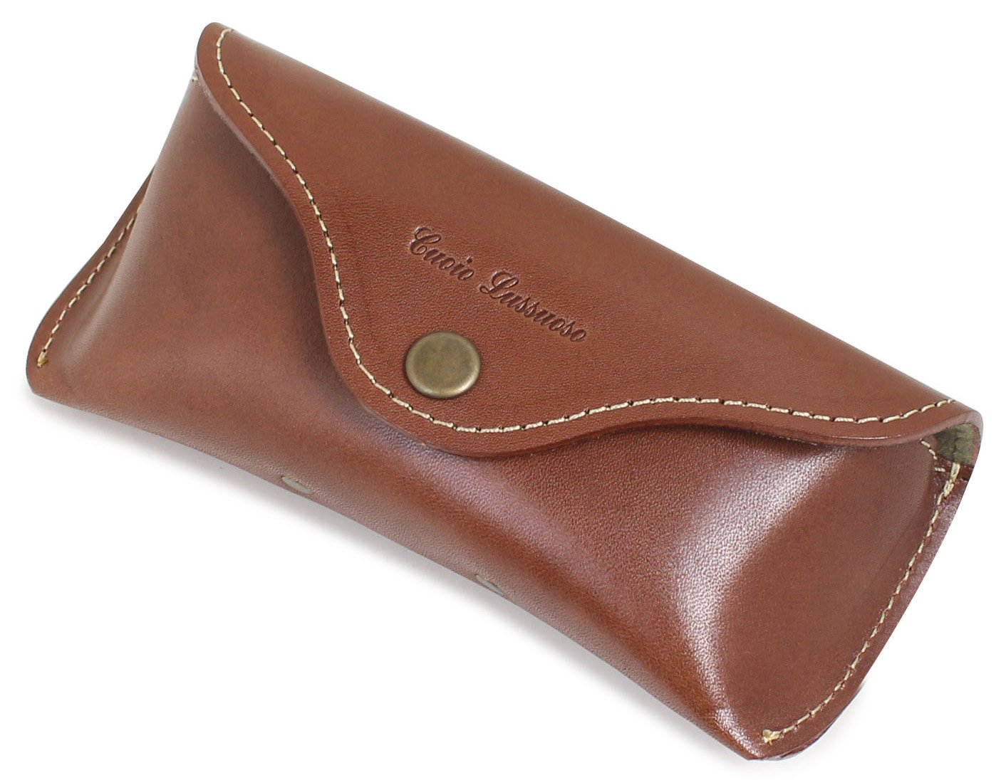 TCcase Co.,Ltd. Buttero Leather Hard Eyeglass Case With Belt Loop for Putting on your Pants - Brown by TCcase Co.,Ltd.