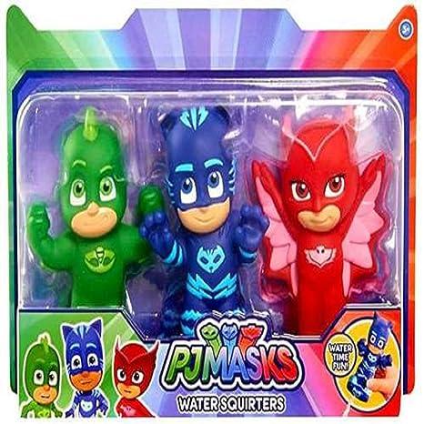 "Pj Masks Catboy, Owlette & Gekko Water Squirters Bath Toys 5"" ..."