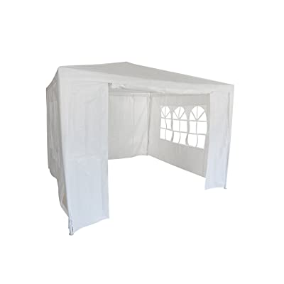 HODDMIMIS Wedding Party Tent 10x10 Outdoor White Canopy Screen Sun Shelters Houses Gazebos Heavy Duty with 4 Removable Sides Sidewalls : Garden & Outdoor