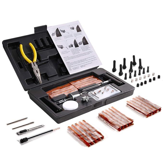 42 opinioni per Kit per 93pcs Riparazione Pneumatici, TECCPO Professional Kit di Riparazione,