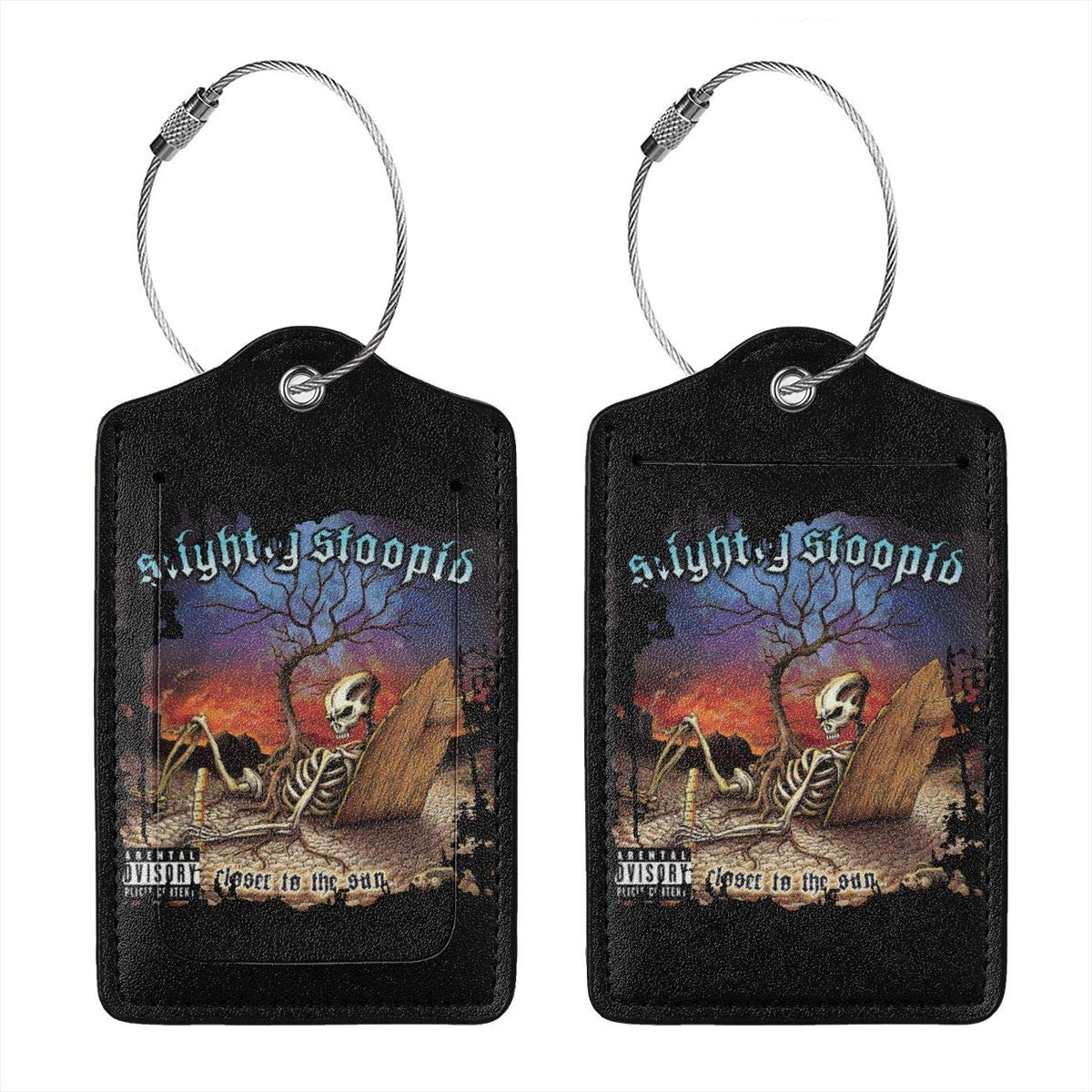 Slightly Stoopid Closer To The Sun Leather Luggage Tag Travel ID Label For Baggage Suitcase
