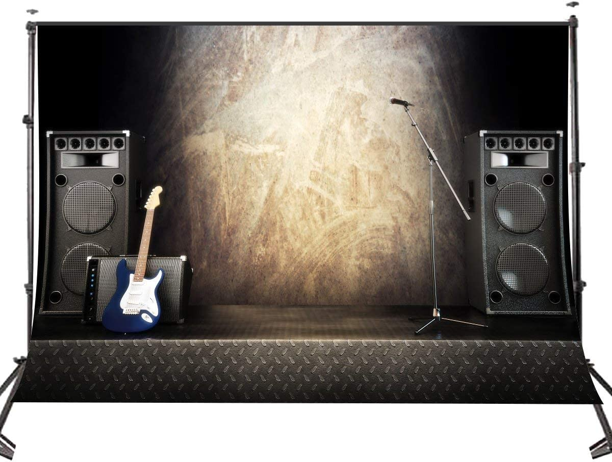 CdHBH 10 x 7 FT Polyester Music Equipment Photography Backdrops Photo Studio Props Guitar Rock Style Background Video Room Mural 107-109
