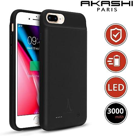Akashi Paris - Cover Batteria per iPhone 6/6S/8/7, 4200mAh Cover Ricaricabile Custodia Batteria Cover Caricabatteria Battery Case per iPhone 6/6S/8/7 ...