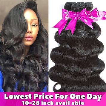 Amazon.com   Flady Hair 10A Brazilian Body Wave Virgin Hair 3 Bundles 14 16  18inch Unprocessed Virgin Human Hair Weave Natural Black Color Remy Hair    ... 9f9b44976b8e