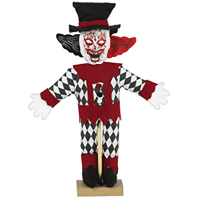 Mini Standing Evil Clown Decoration: Toys & Games