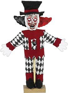 Mini Standing Evil Clown Decoration, 1ct