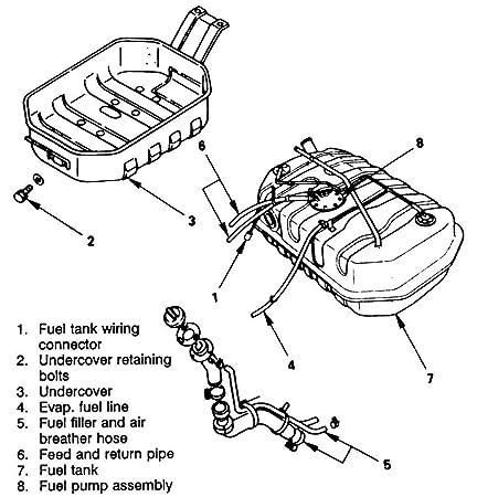 Amazon Com 1996 2002 Isuzu Trooper Plastic Engineered Fuel Pump