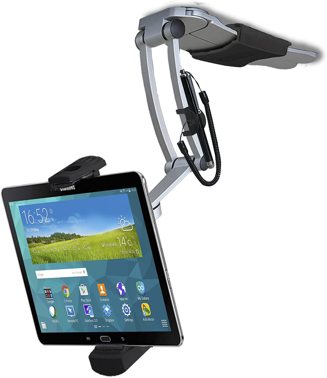 CTA Digital: 2-in-1 Multi-Flex Tablet Stand and Wall Mount for Apple iPad 10.2-inch (7th & 8th Gen)/11-inch iPad Pro/12.9-inch iPad Pro/iPad Gen 6/iPad Air 3/Galaxy Tabs & more, Black