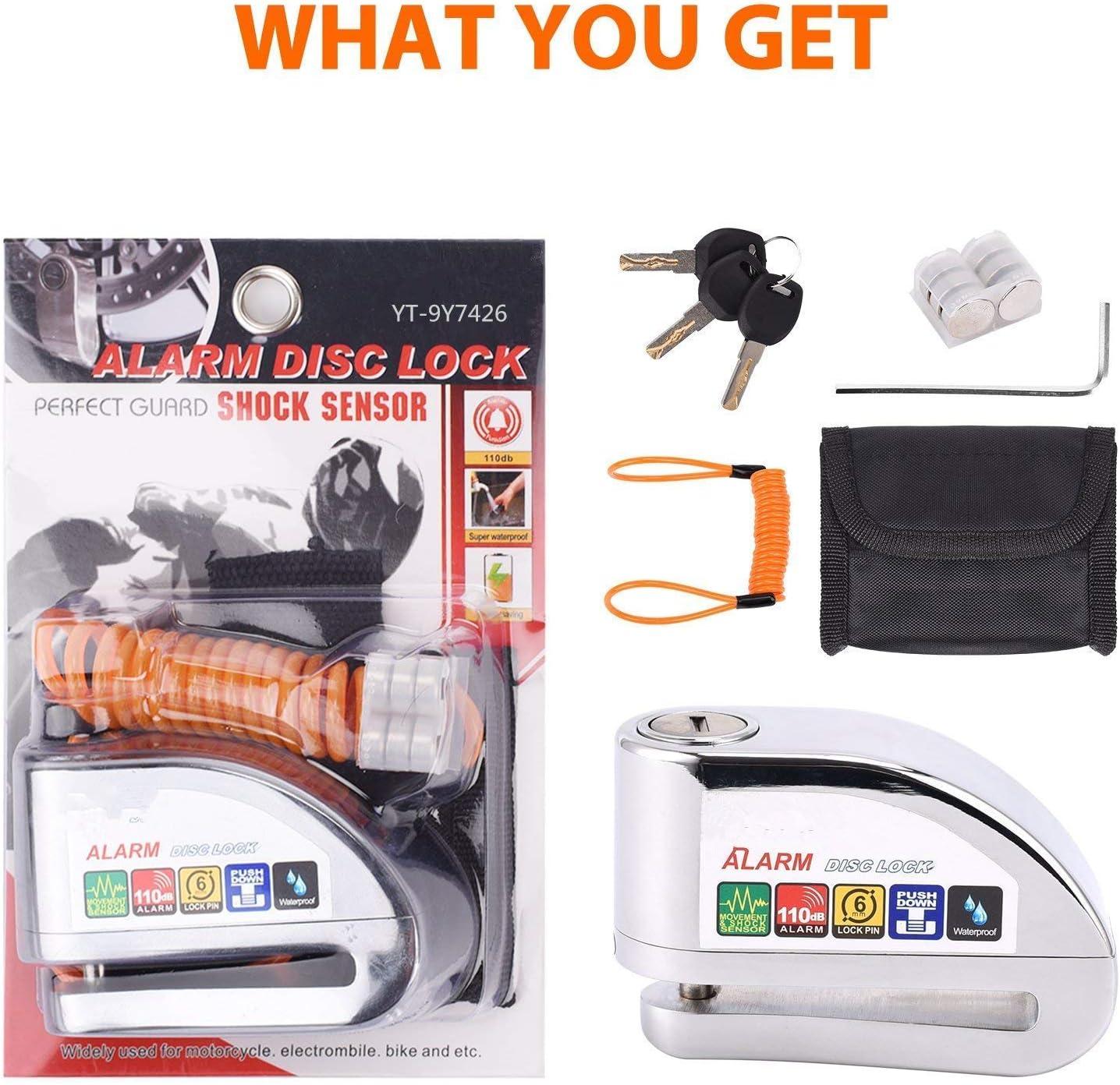 Buy Allamazing Disc Brake Lock Alarm Disc Lock Motorbike Anti ...