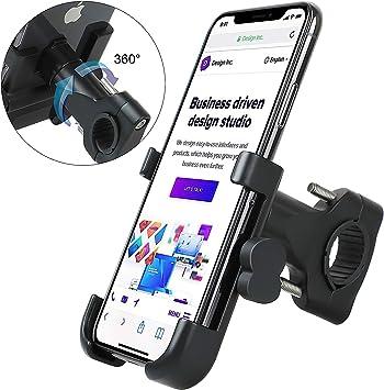 Schwarz 4,0-6,8 Zoll Smartphones HNOOM Handyhalterung Fahrrad Handyhalterung Motorrad Universal 360/° Smartphone Halterung Fahrrad Aluminium Fahrrad Handyhalterung f/ür iPhone Samsung Xiaomi Huawei