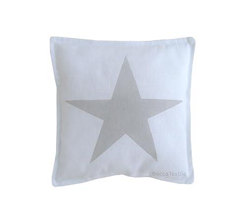 Cojín estrella color gris para bebe de BeccaTextile.: Amazon ...