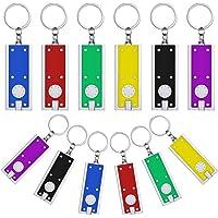 12 Piezas Linternas Llavero Mini Llaveros LED Linterna Pequeña Luz de Collar de Perro en Colores Surtidos Linterna de…
