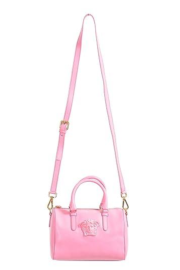 6f927cddde6 Amazon.com: Versace Pink Saffiano Leather Women's Satchel Shoulder Bag:  Shoes