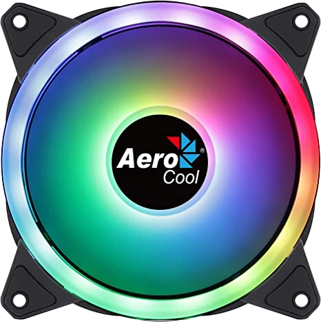 Aerocool DUO12, Ventilador 120mm, ARGB LED Dual Ring ...