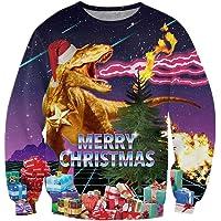 Loveternal Unisexo Jersey Navideño 3D Ugly Christmas Sweater Manga Larga Xmas Pullover S-3XL