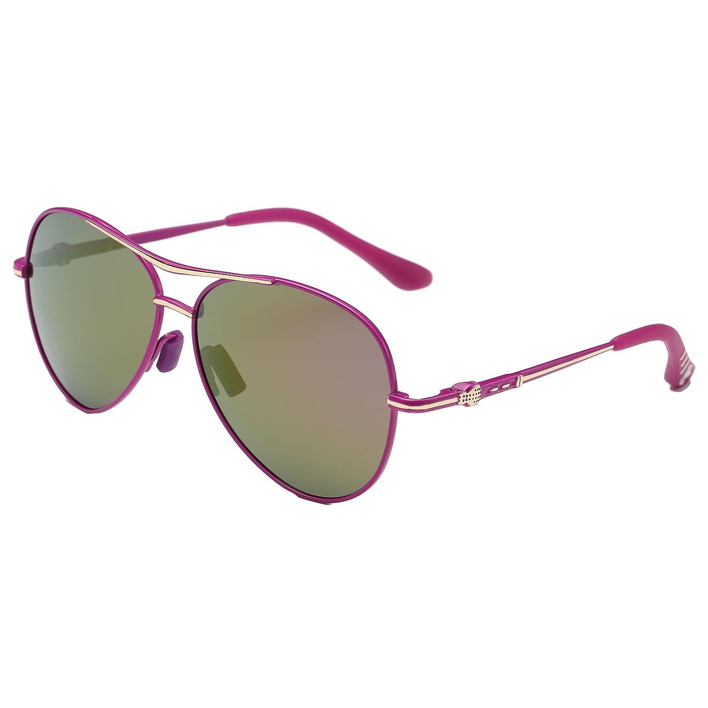 Evebright Kids Child(2~10yr Old) Retro Aviator Polarized Sunglasses Metal Frame UV400 561