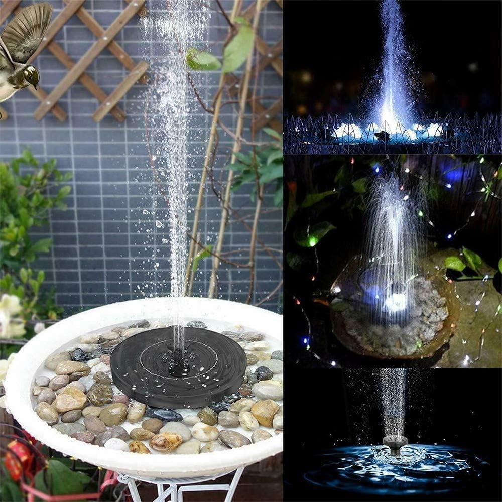 Fuir Garten Solar Teichpumpe Schwimmend Mit Led Mit 4 D/üsen Teich Balkon 2.5 W Solarpumpe Mit Akkuspeicher Solar Fountain