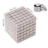 Kemuse Magnetic Cube, Magic Cubes Building Blocks Educational Toys for Stress Relief and Intelligence Development, Fun DIY Desktop Toys (216 Balls - 5mm)