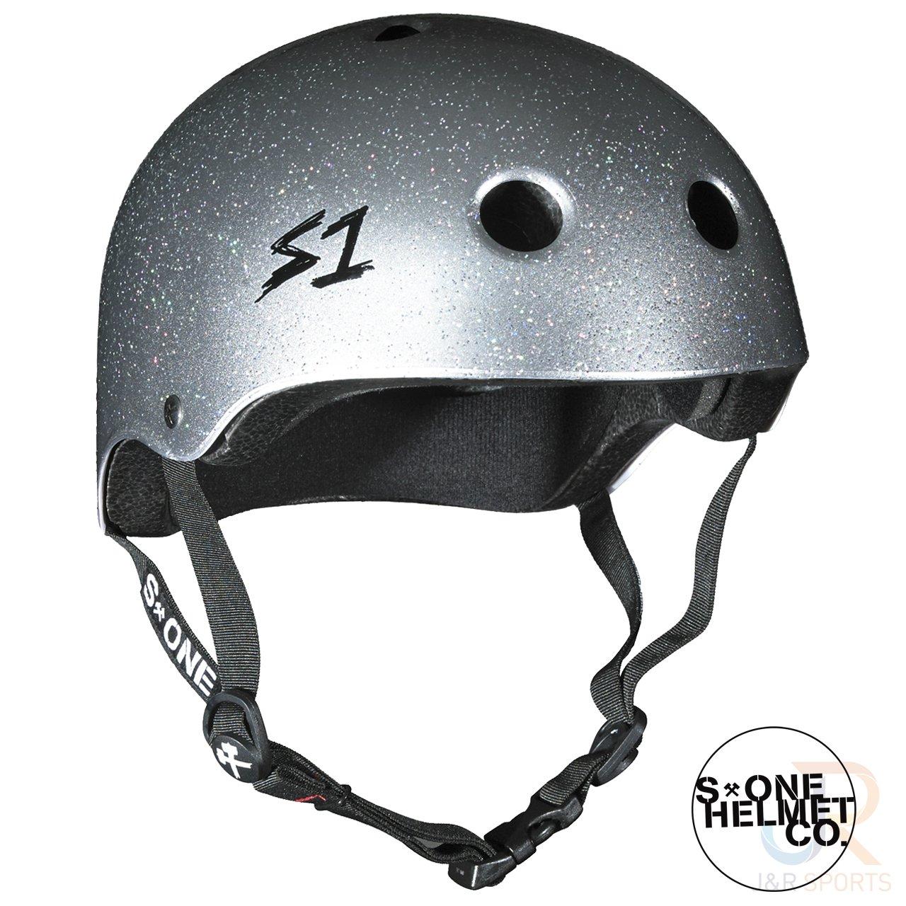 S1Lifer Helm–Silber glänzend glitzer