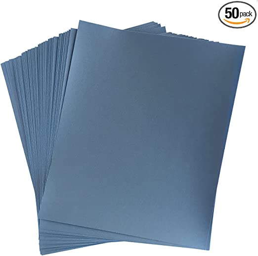 600 grit-50 Pack 9 X 11 Wet or Dry Waterproof Silicon Carbide Sandpaper Sheets
