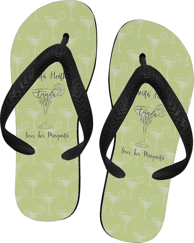 RNK Shops Margarita Lover Flip Flops Personalized