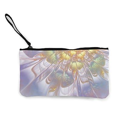 Amazon.com: Monedero de lienzo con efecto de flores, bolsa ...
