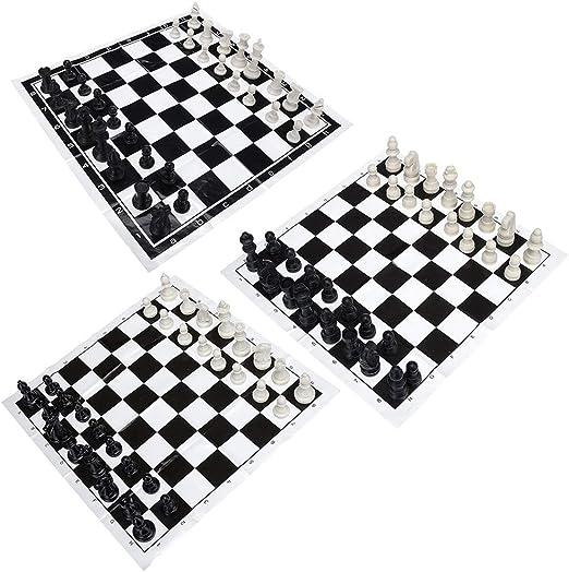 Juego de Mesa de Viaje Torneo de Ajedrez juego de ajedrez portátil 32 Pedazos plásticos del