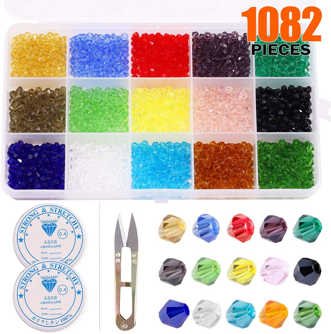 4mm Faceted Rondelle Beads 120 Piece Glass Crystal Beads 19 colors U-Pick