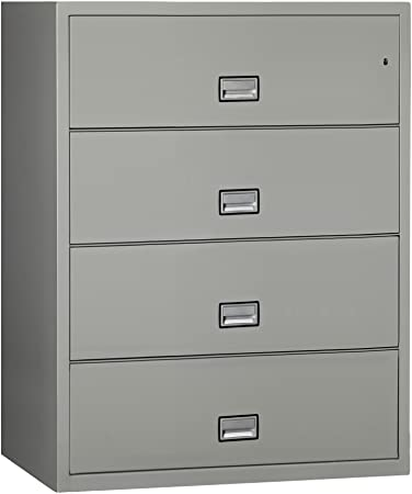 Phoenix Lateral 44 inch 4-Drawer Fireproof File Cabinet - Light Gray