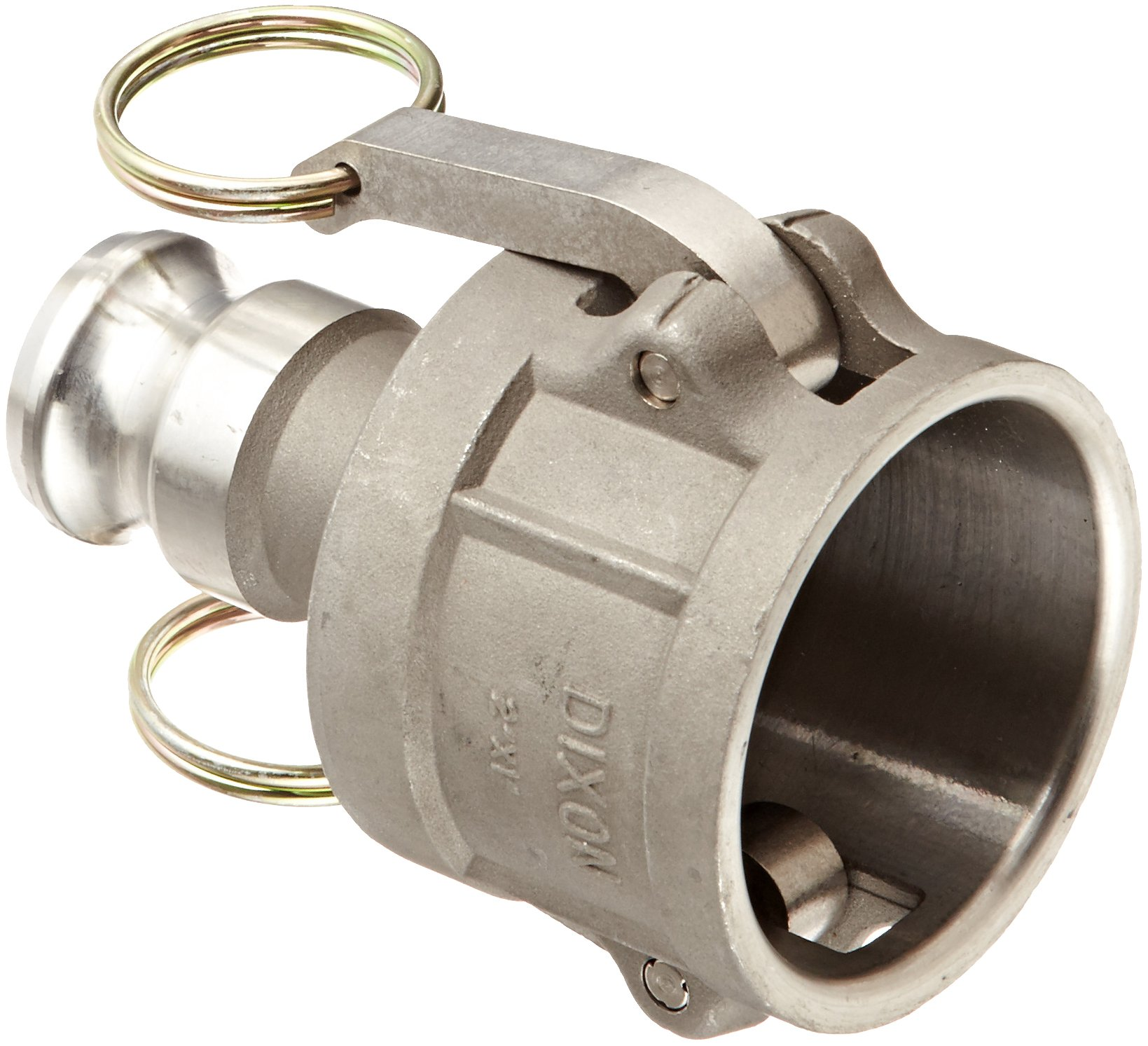 Dixon 2010-DA-SS Stainless Steel 316 Cam and Groove Reducing Hose Fitting, 2'' Socket x 1'' Plug