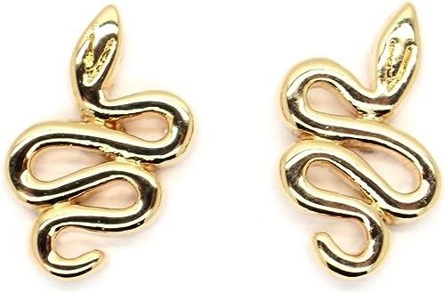 Yoursfs Serpent Plaqu/é or Boucle doreille Manchette Femme Hoop Grimpeur Gothique oreille clous