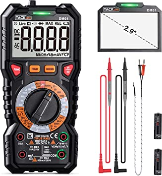 Digital Digital Multimeter Portable for Voltage Capacitance Diode test Resistance Frequency test Laboratory No-contact Multimeter