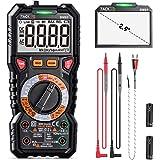 Digital Multimeter TRMS 6000 Counts,LED Intelligent Indicator Jack, Manul Ranging Measuring AC/DC Voltage,AC/DC Current…