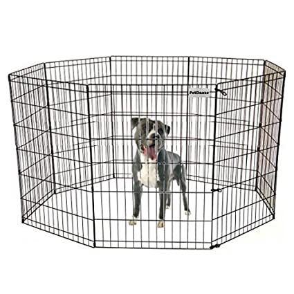 PetDanze Dog Puppy Playpen Pen 36u0026quot; Height | Indoor Outdoor Exercise  Outside Play Yard |