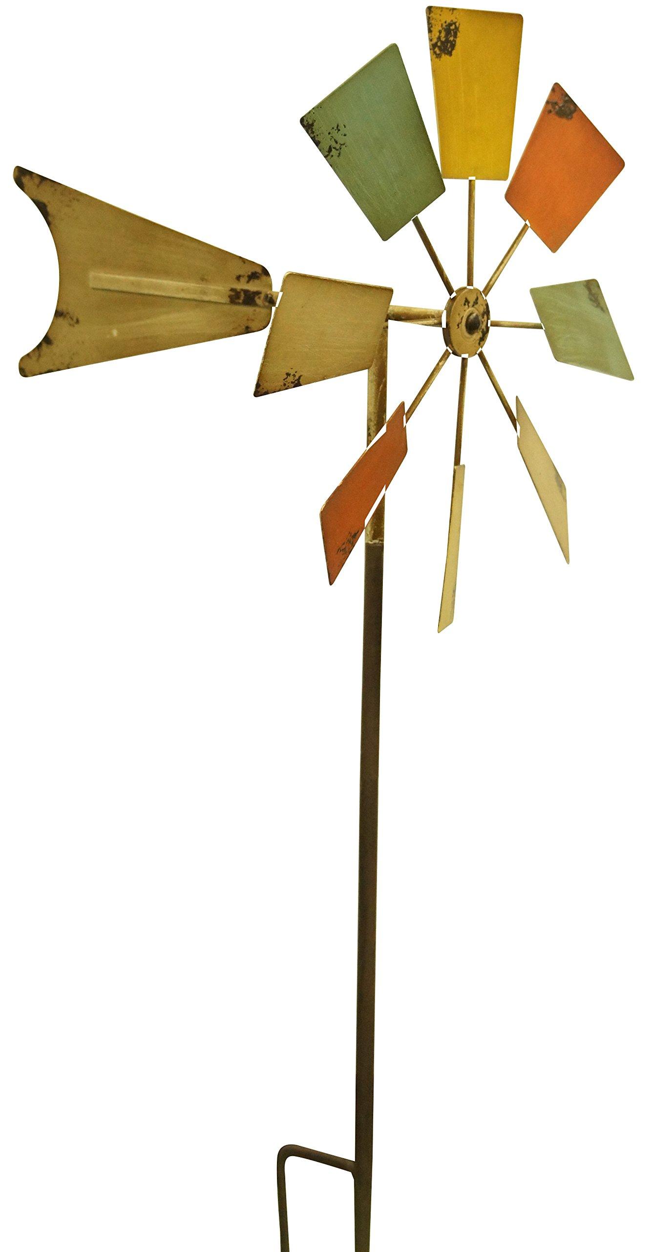 Alpine KIY102MC 52'' Metal Windmill Stake, 52'', Multi Color