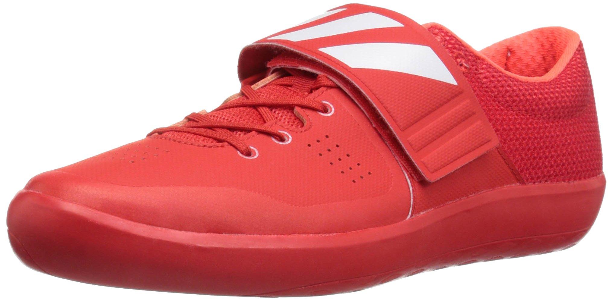 adidas Adizero Shotput Track Shoe, Red/White/Infrared, 6 M US by adidas
