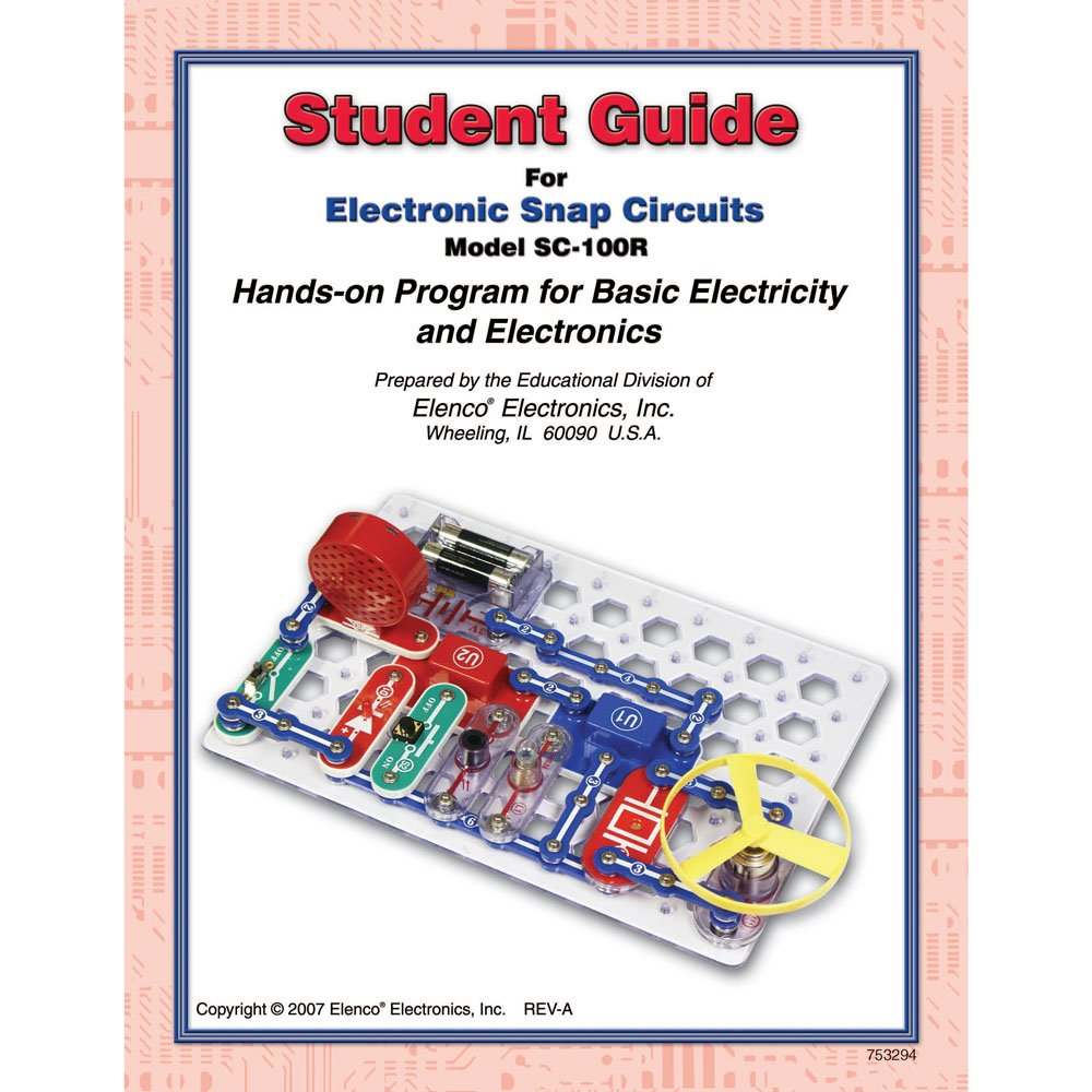 Snap Circuits Jr Sc 100 With Student Teacher Guides Introduction To The Electric Switch Using All Toys Games