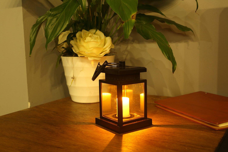 hulorryポータブルLEDライト超明るい、アウトドア/インドアソーラーランタンライトソーラーLEDキャンドルライト装飾庭庭の装飾傘木ランタンハングHanging Lamp   B07BNLWBT9