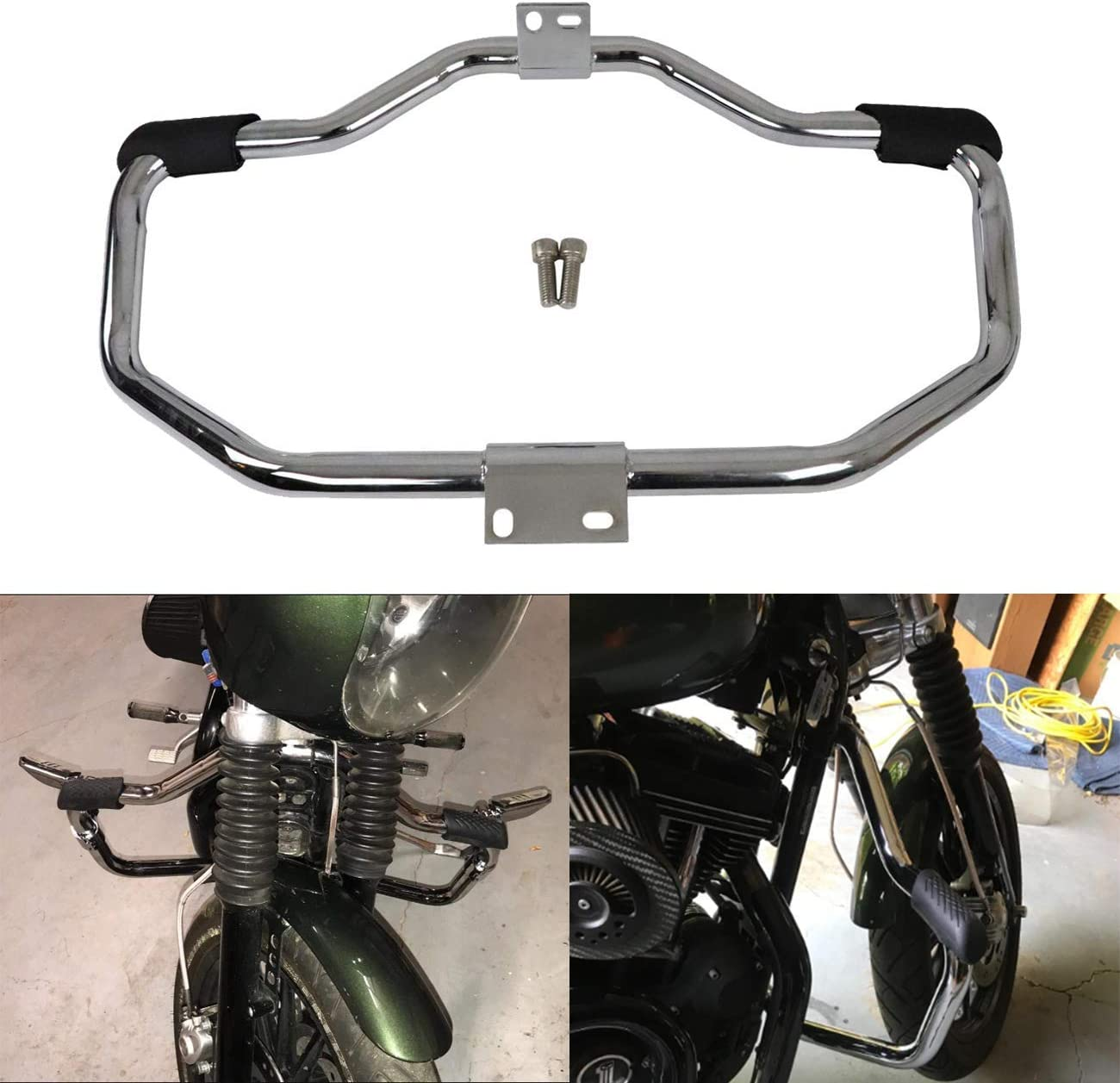 Chrome Engine Guard Highway Crash Bar For Harley Sportster Iron 883 883N XL1200 2004-2020