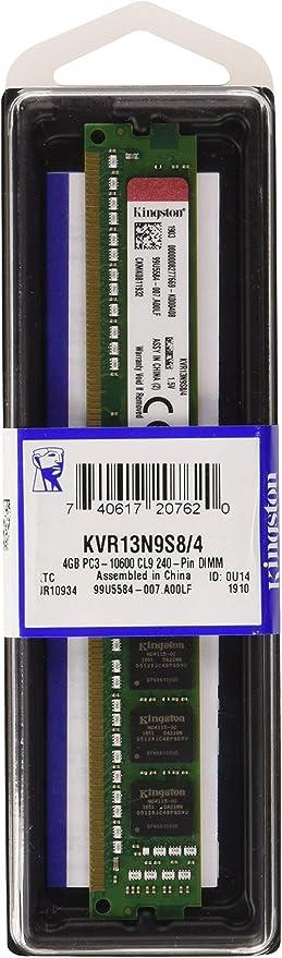 Kingston Technology 4GB 1333 MHz 240-Pin DDR3 SDRAM Memory  Module KVR13N9S8...