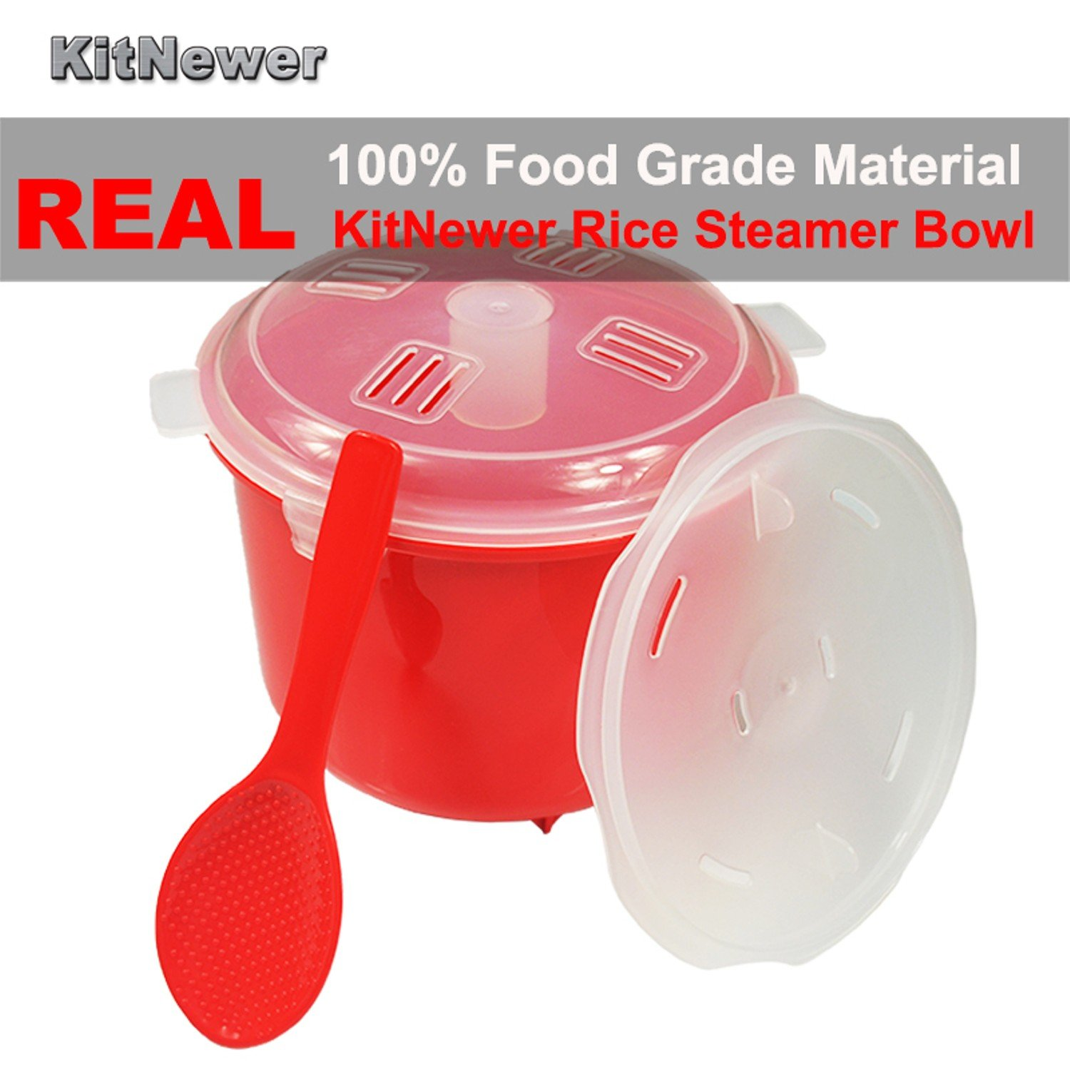 2.6L/87.9OZ Capacity Eco-Friendly Plastic Microwave Rice Steamer Bowl Cooker sushi rice BPA Free Kitchen Utensils