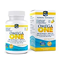 Nordic Naturals Omega ONE, Lemon Flavor - 560 mg Omega-3 + 500 IU Vitamin D3-30 Count - High-Potency Fish Oil in ONE Easy to Take Soft Gel - Brain, Eye & Heart Health - Non-GMO - 30 Servings