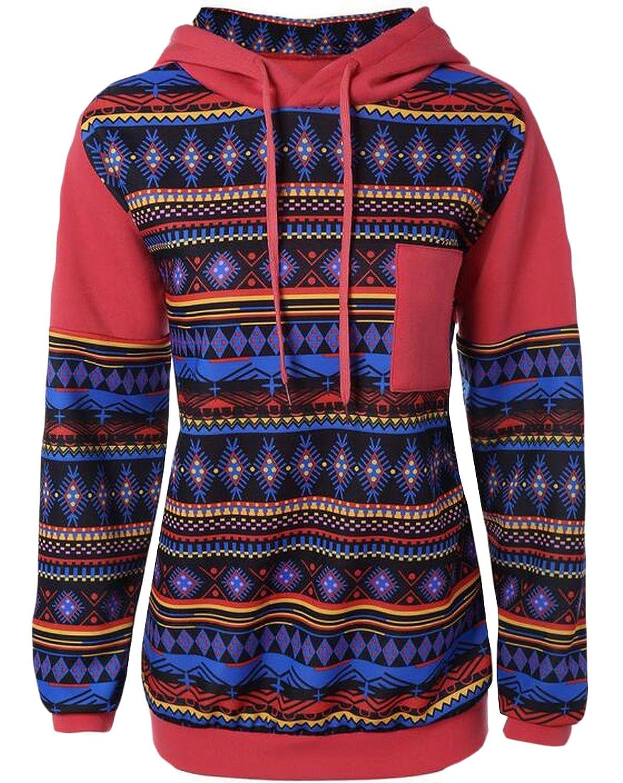 1d21dae8ff6 30%OFF Honey GD Women s Bohemia Retro Long Sleeve Hoodies Sweatshirt ...