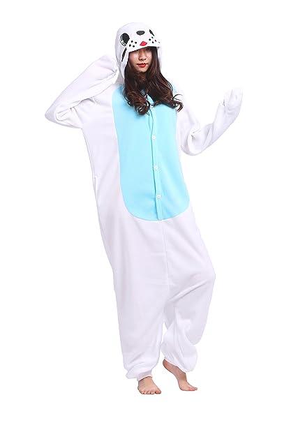 YUWELL Kigurumi Pijamas Unisex Traje Disfraz Animal Adulto Animal Pyjamas Onesie: Amazon.es: Ropa y accesorios