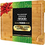 """EXTRA LARGE Organic Bamboo Chopping Board 