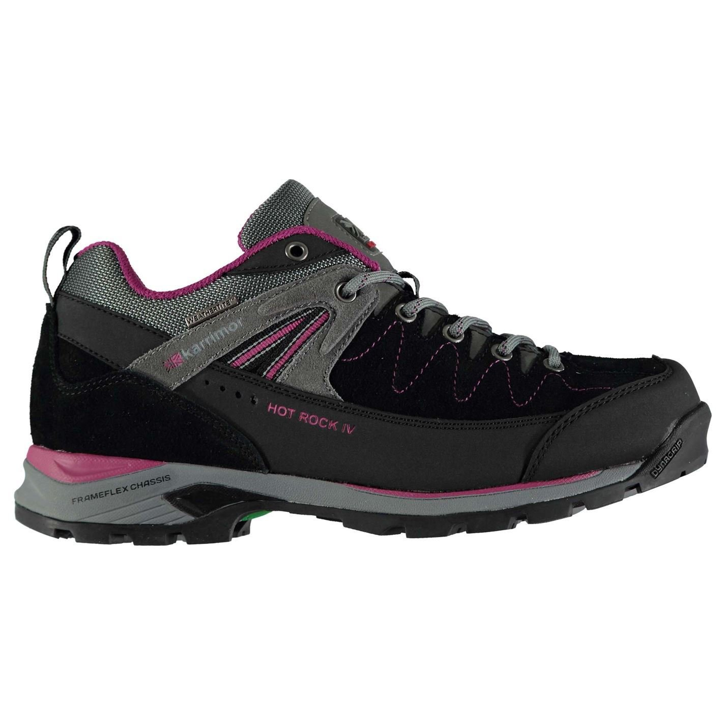 Karrimor Womens Hot Rock Low Walking Shoes Lace up Padded B078WVL53Q UK 7 (41)|Black/Pink