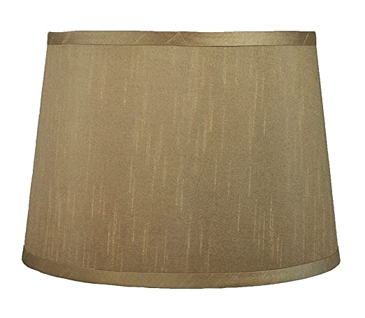cdfe8c54f6e8 Urbanest French Drum Lampshade, Faux Silk, 10-inch by 12-inch by 8 1 ...