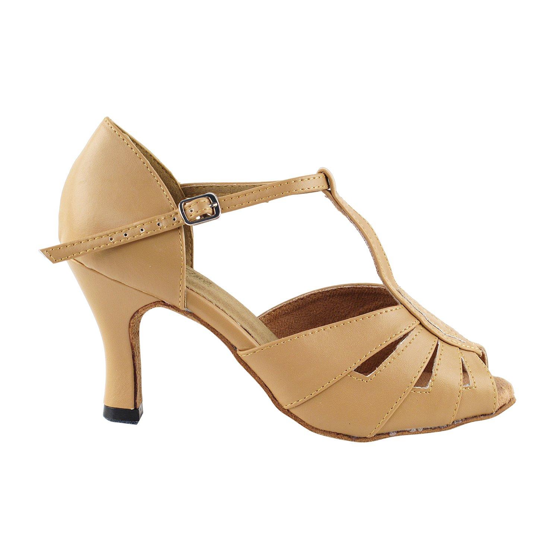 Latin Ballroom Salsa Clubing Wedding 50 Shades of TAN Dance Shoes for Women 1