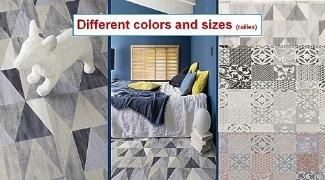 Vinile tappeto piastrelle cemento diverse dimensioni motiv